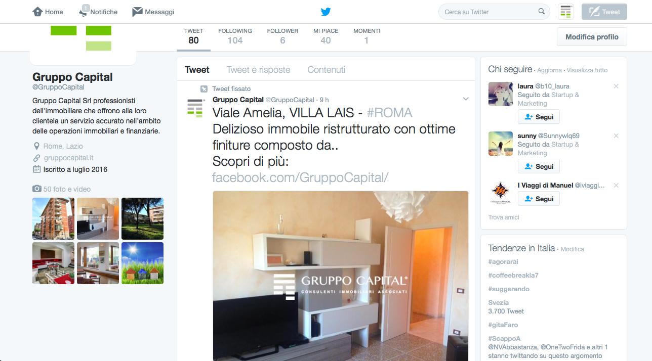 Twitter Gruppo Capital